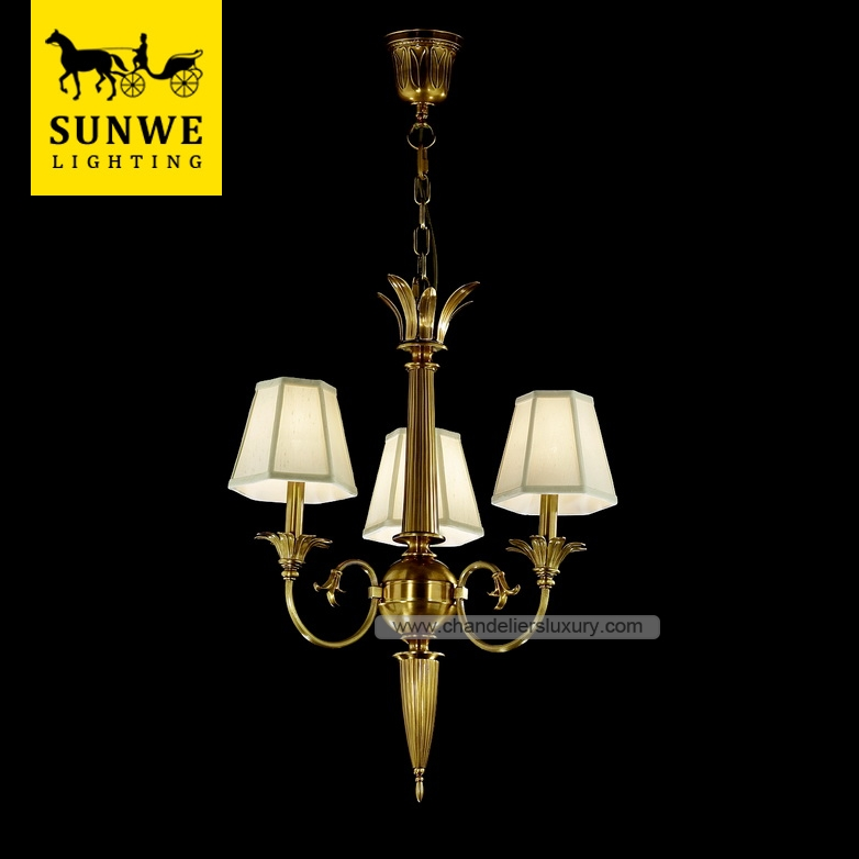 Guangzhou Led 3 Pendant Lights Brassd Bedroom Candle Brass chandelier wall lights