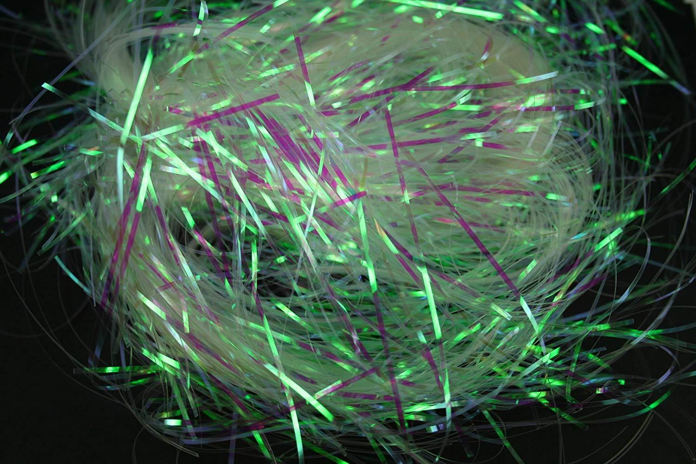 CLEAR Metallic Iridescent SHRED ( 5 PACKS ) BULK BUY!!! 1.5MM ( 2 OZ EACH) Gift Box Filler / Easter Basket Filler (10 OZ Total)