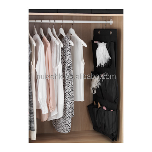 black hanging shoe organiser w 16 pockets