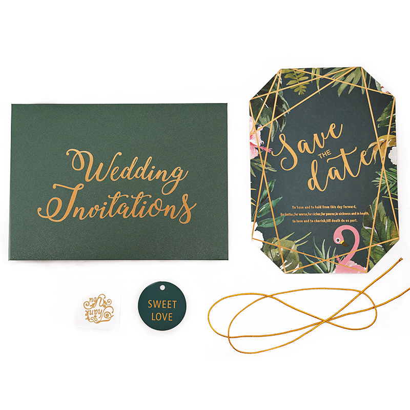 Best price high quality luxury laser cut unique wedding invitation cards