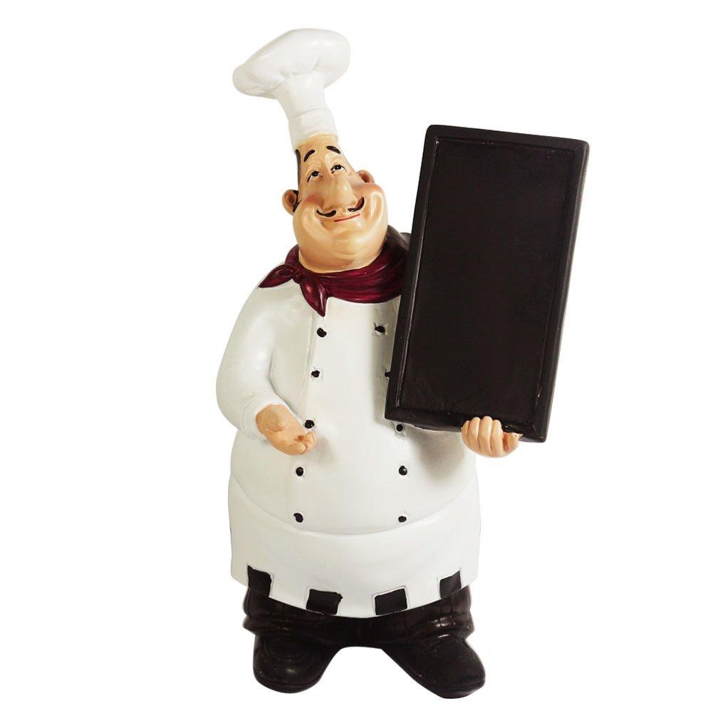 Kiaotime Home Kitchen Restaurant Decorative Chef Figurine Statue Table Top Counter