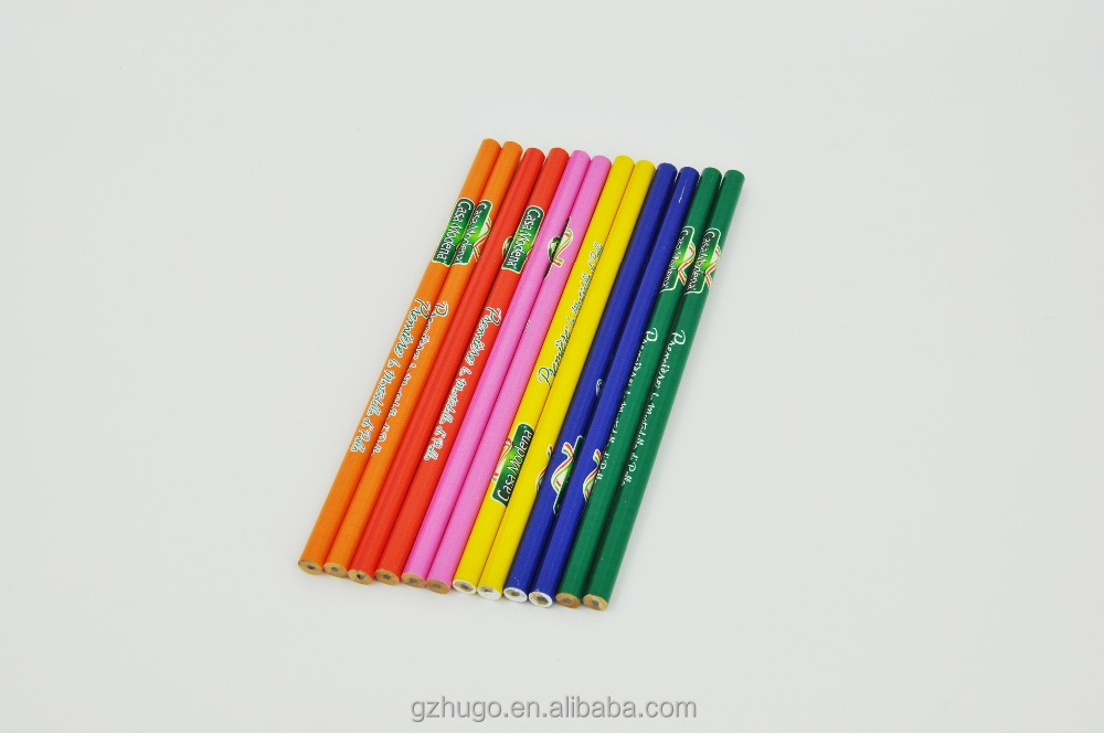 High quality custom logo printing natural HB wooden pencil