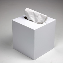 Customized Square Acrylic Tissue Box For Bathroom