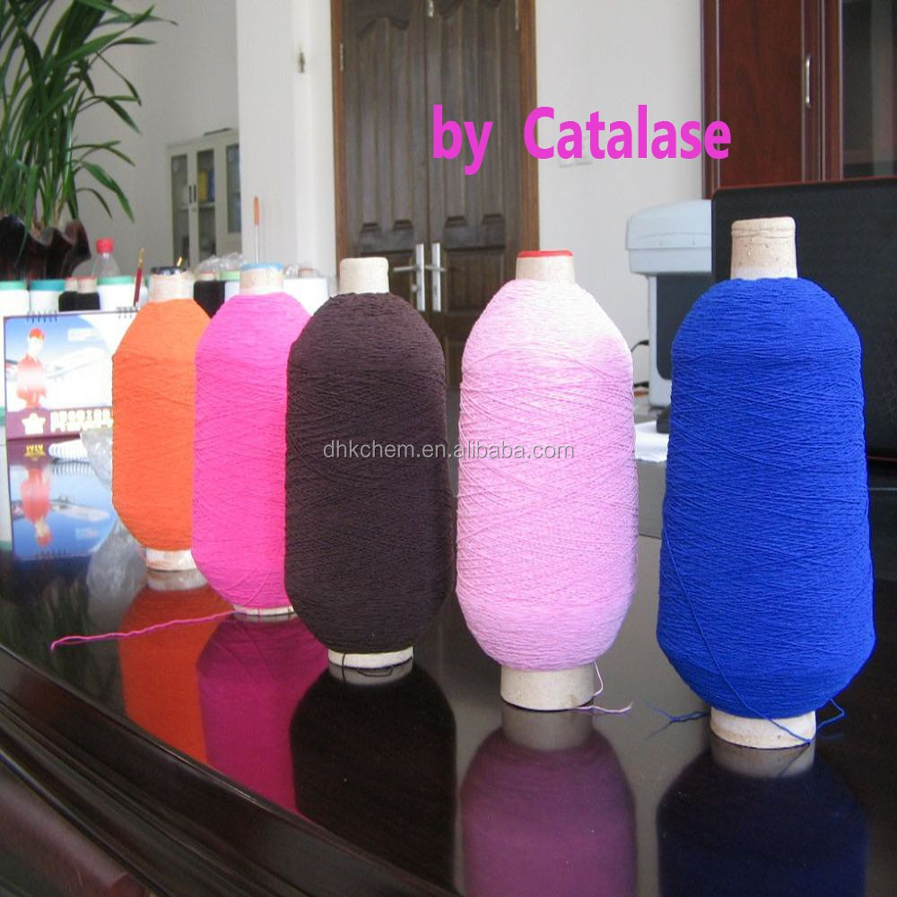 Hydrogen peroxidase /catalase textile fabrics for yarn, cheese, do bright color
