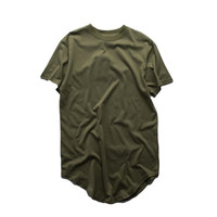 ATSC118 OEM Extra Long Line Tall T Shirt With Scoop Hem Wholesale China