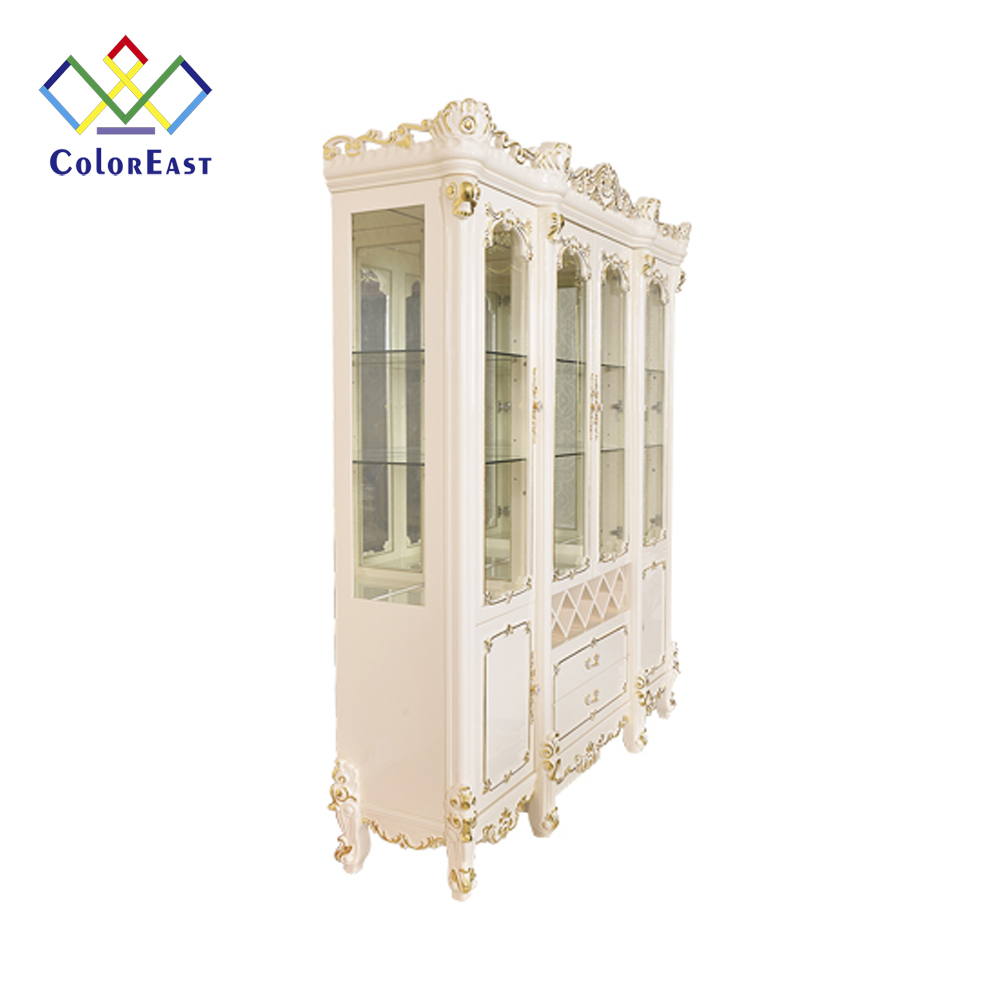 Classic European Style 스프레이-Painted Solid Wood Cabinet CEFC210 대 한 Wine Store