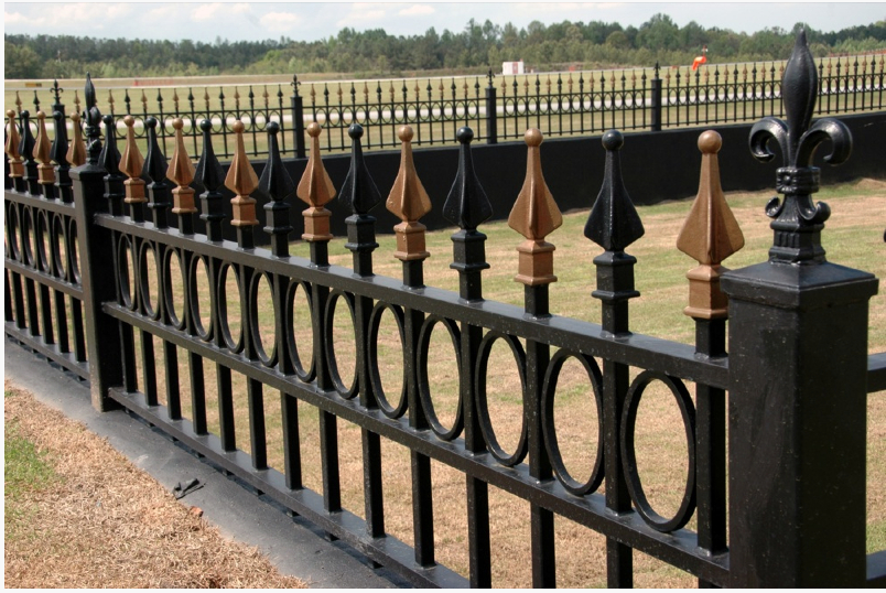Made in China European style designs Steel Picket Metal Wrought Iron Fence
