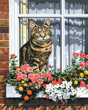GZ689- 40*50 window cat art diamond painting decoration for bedroom