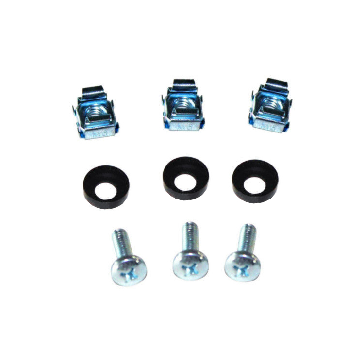 Rack mounting Captive Nuts Bolts Washers for Server and AV equipment