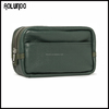 Green mens full-grain leather wash bag from China