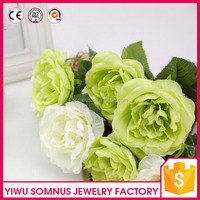 2016 High Quality Silk Peony Flower Artificial Plastic Wedding Bouquet