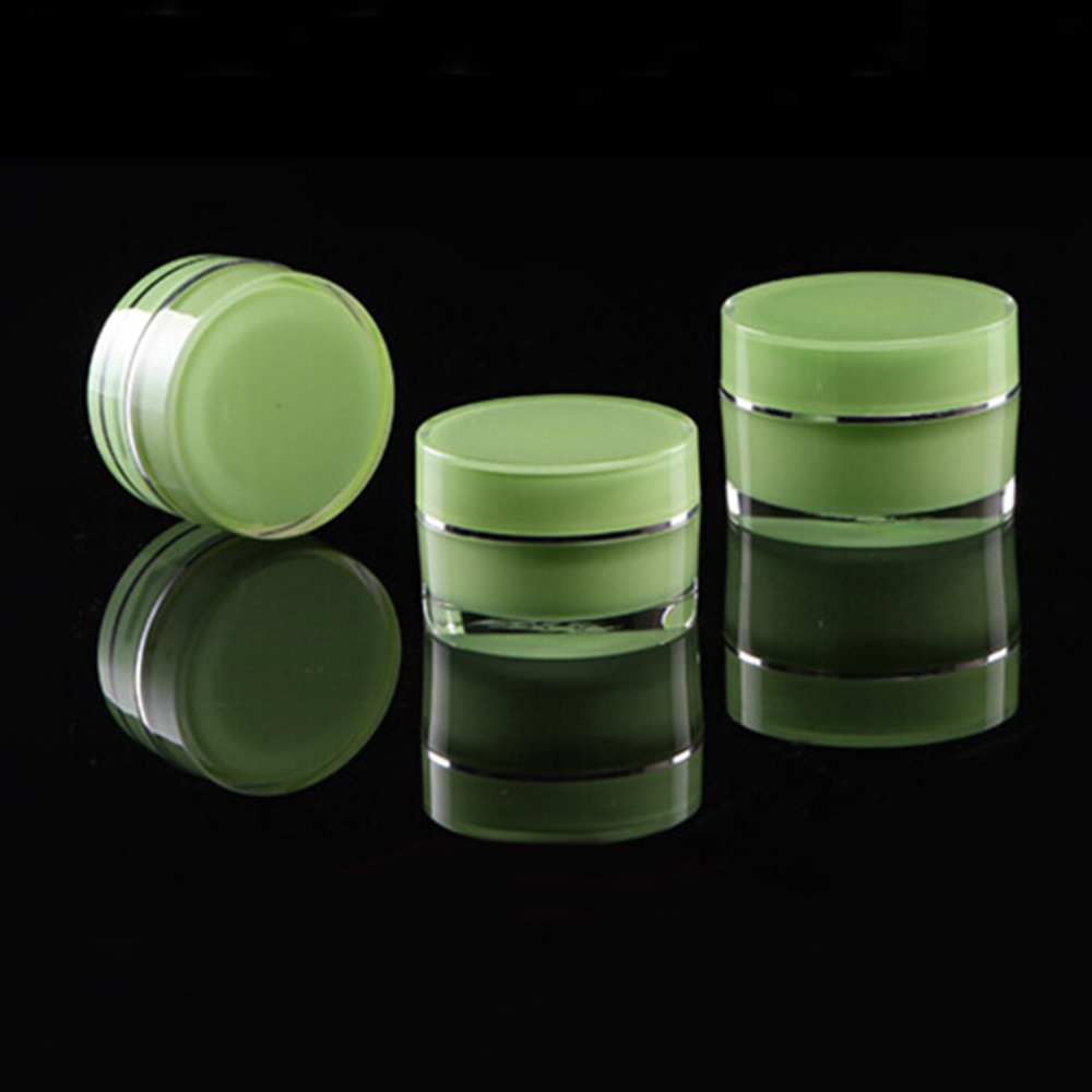 Luxury Double Wall Straight Round Hair Care Product Container 100g 150g 200g