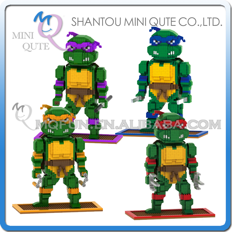 Mini Qute DR. STAR 4 estilos tortuga Ninja cartoon movie modelo educativo bloques de construcción de plástico juguetes educativos