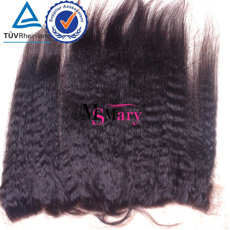 Full and Thick 8A Grade 13x4 Ear to Ear Virgin Brazilian Kinky Straight Closures Lace Frontal