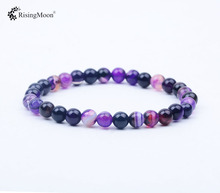 Customized gemstone jewellery 마노 6 미리메터 natural gemstone beads bracelet <span class=keywords><strong>두바이</strong></span> gemstone buyers