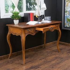 Office Desk Furniture, Office Desk, Student Desks, Writing Desks, Secretary Desk, Three-Drawer Wood Desk, In Brown Finish