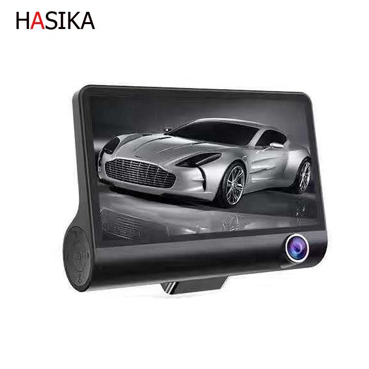 Dash Cam 1080P  4'' LCD 3 Lens Car DVR Dashboard Camera Recorder Rearview Camera car dash camera hd