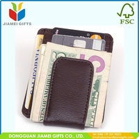New promotion mens money clip wallet with high quality