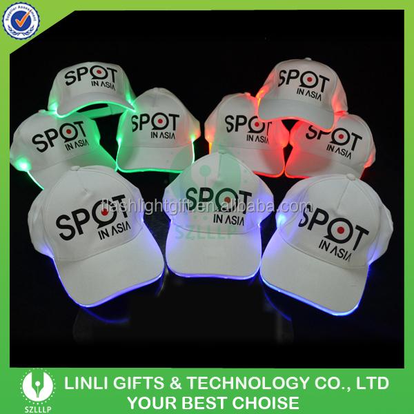 custom printed pathfinder lighted baseball hats cap manufacturers led caps