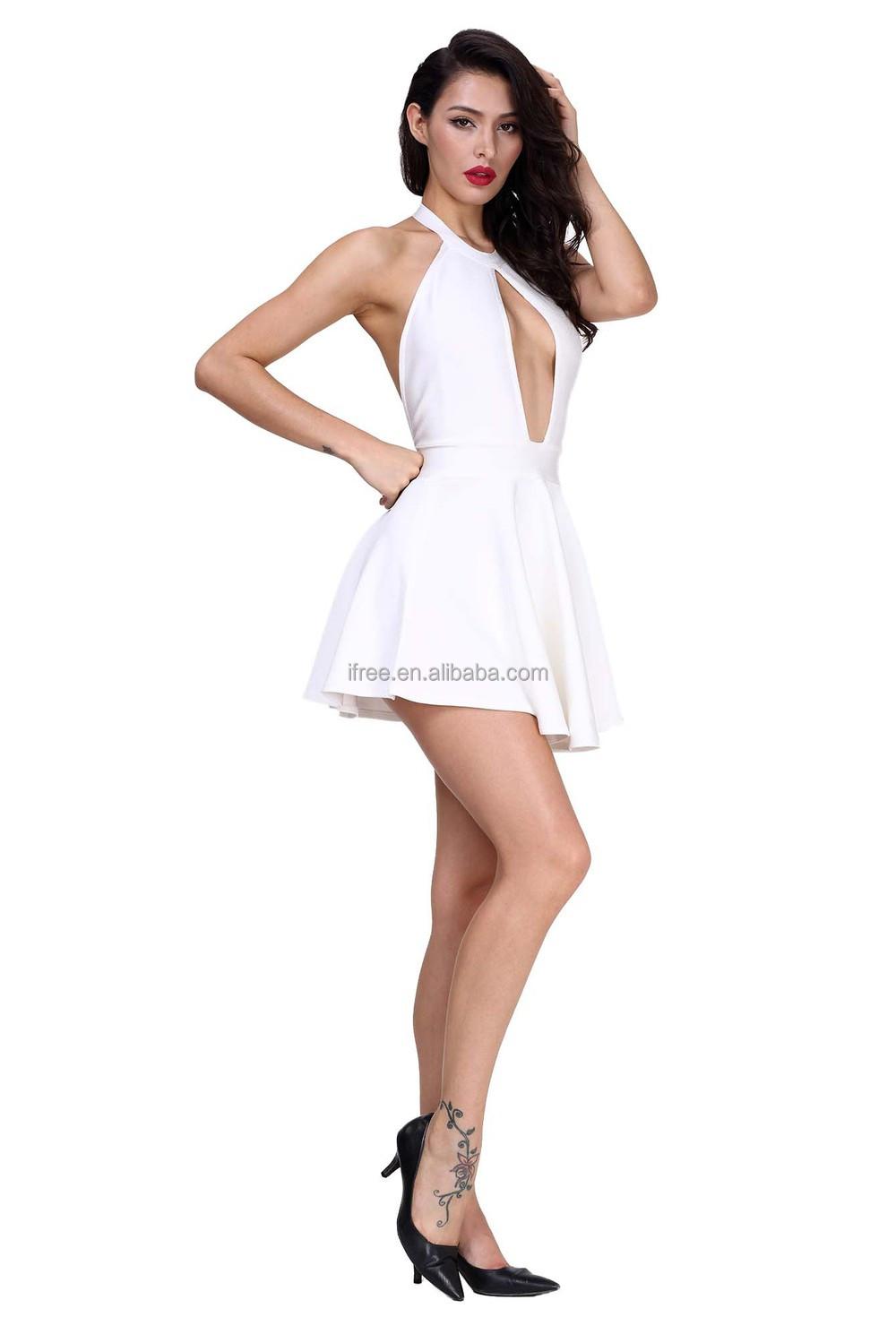 cute girls mini dress sexy cutout backless girls bandage
