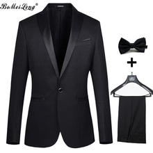 Formal Men Business Dress Suits 2015 Wedding Suits For Men Fashion Jacquard Men Suits With Pants Men Groom Jacket+Pant+Tie