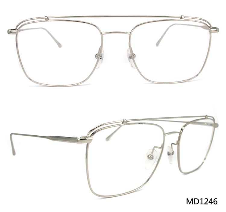 Md1246 New Design Big Size Adult Silver Nice Glasses Frame,Optical ...