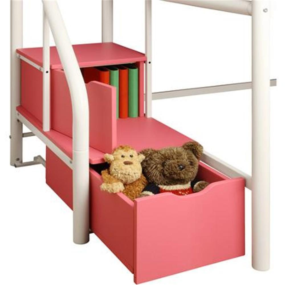 Pas cher enfants chambre meubles rose / blanc / métal / métal noir ...