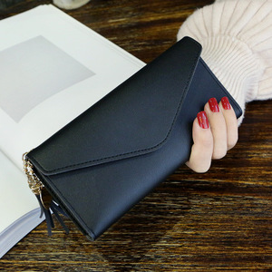 JLB006 2018 PU leather woman credit card money wallets clip