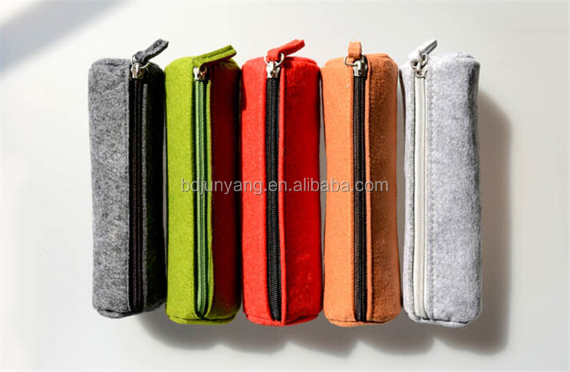 Economical easter felt bag wool small felt bag for pen felt pencil case