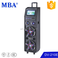 professional sound system battery powered pa system with dvd screen ,bluetooth,amplifier