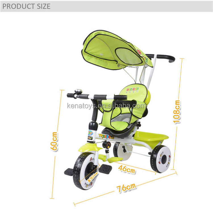 2017 new design baby trike / children baby buggy / kids baby tricycle
