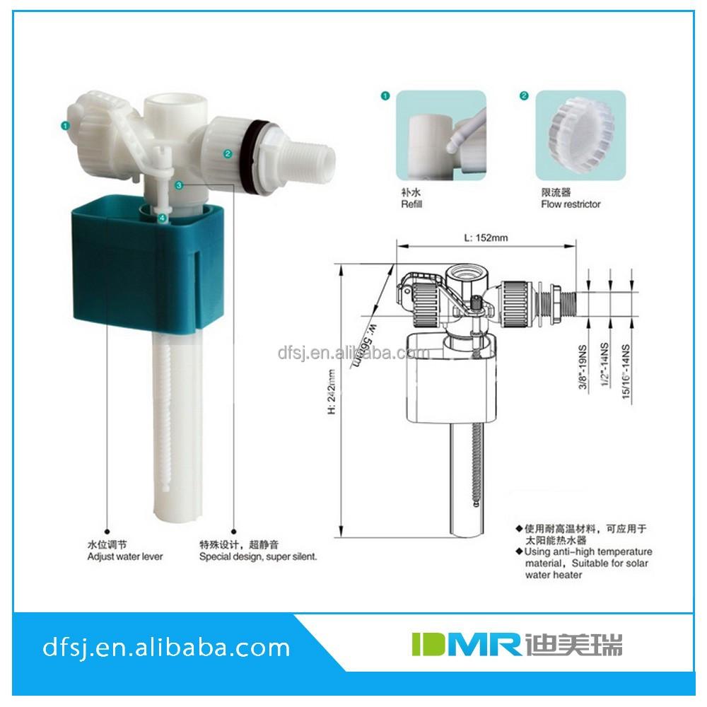 Bathroom cistern fittings - Xiamen Ce Toilet Cistern Parts Side Inlet Valve Fill Valve Fittings
