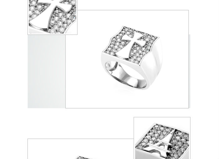 High quality cz silver infinity wedding rings