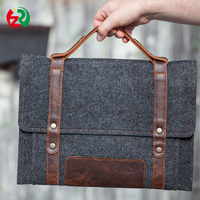 Most Popular Trendy Concise Style felt laptop bag, Business briefcase fashion felt notebook case