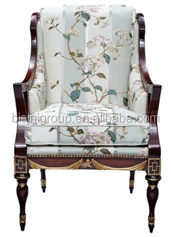 Classico Elegante Stile Inglese Royal Poltrona Con Rivestimento In ...