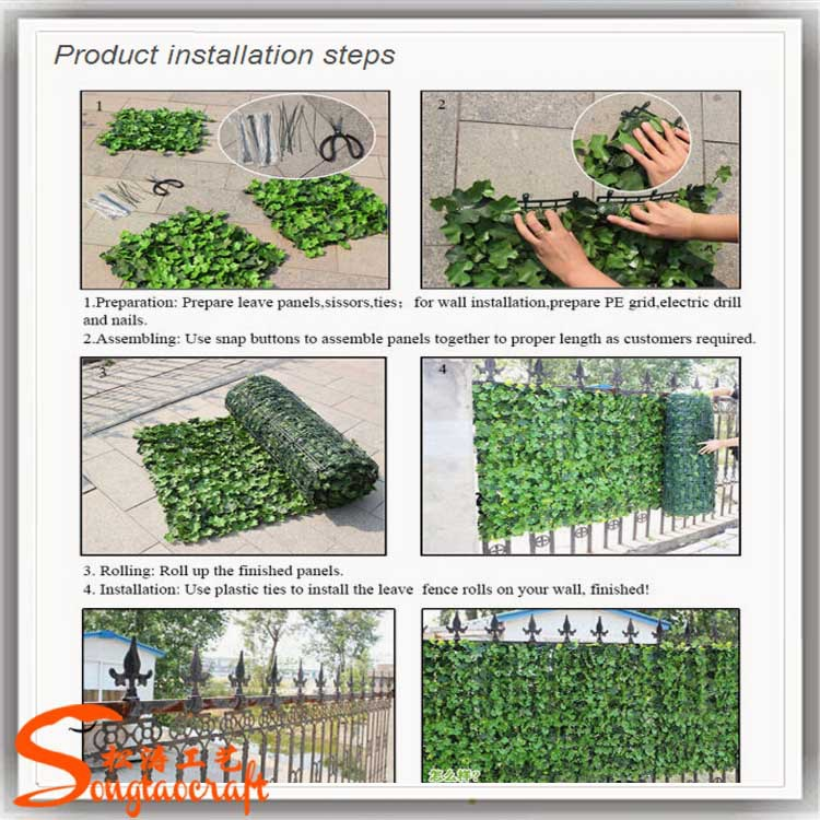 China indoor plastic vertical green wall and artificial for Wall hanging designs with waste material
