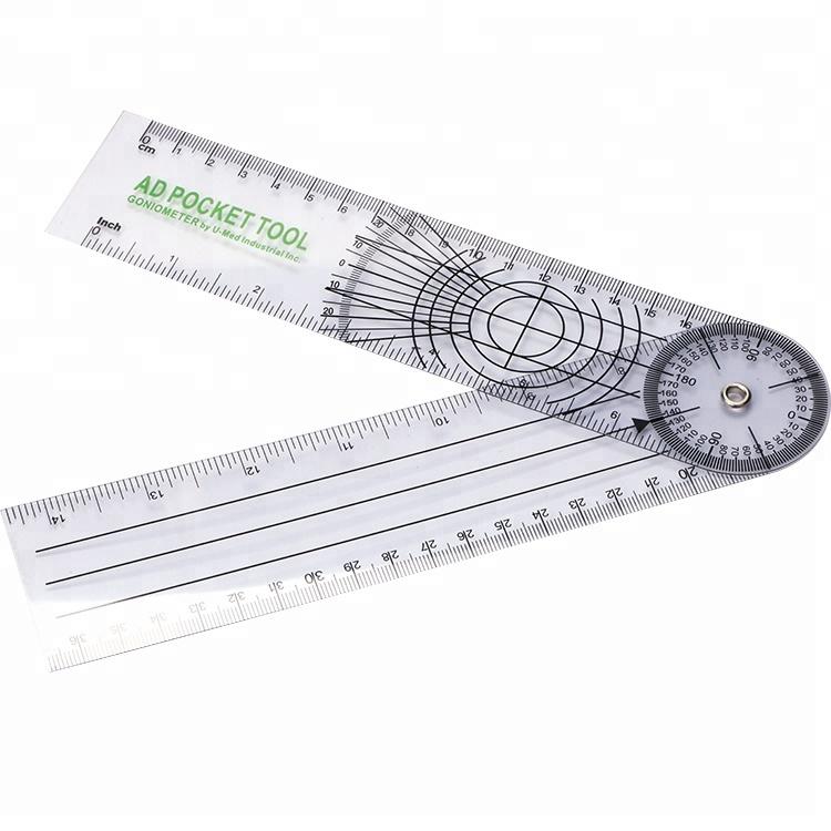 Trustful 0-300mm 12inch Goniometer 300mm Plastic Protractor Medical Ruler Angle Ruler Body Angle Measure Gauge Always Buy Good Measuring & Gauging Tools