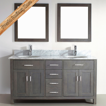 Hot selling matt finish solid wood double sink bathroom vanity top buy double sink marble for Solid wood double sink bathroom vanity