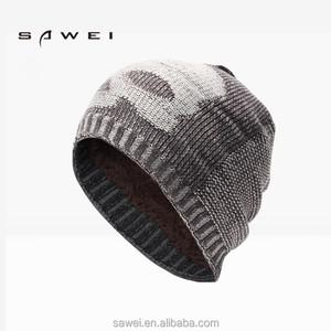 0cfdaff0c9f Acrylic Wool Blend Slouch Cuff Blank Plain Ski Custom Knit Skull Beanie cap