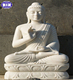 Nature polished white jade tall buddha statue for sale