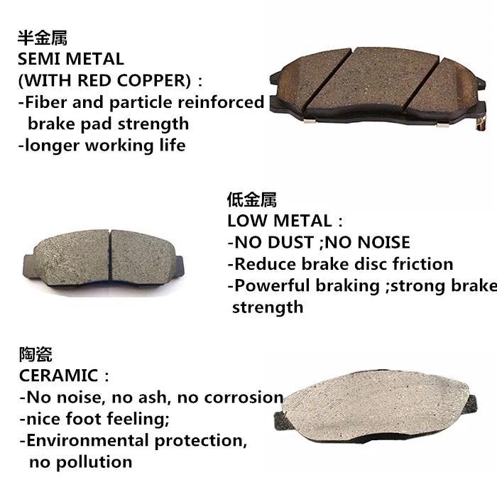 Di alta Qualità In Ceramica o In Ceramica materiale Freno Anteriore Pad D1729 Per Le Automobili Giapponesi