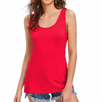 80509-MX91 New 5 colors sleeveless tops for women