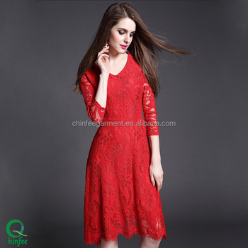Casual Lace Dress Western Dresses Names - Buy Casual Lace Dress ...