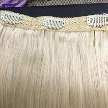 Hot Selling Human Hair Weave Virgin Clip Hair Extensions 100% <span class=keywords><strong>Remy</strong></span> <span class=keywords><strong>Braziliaanse</strong></span> Clip in Hair Extensions Dikke Uiteinden