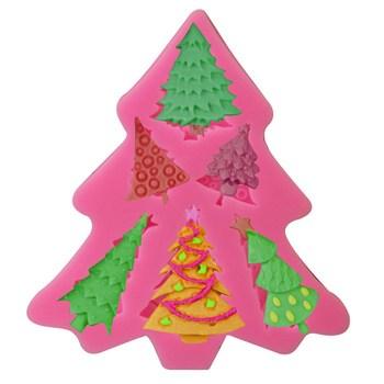 6 rbol De Navidad En Forma 3d Azcar Pastel De Silicona Hornear Y