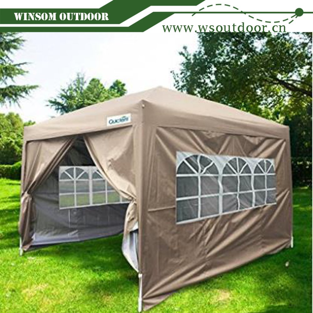 10x10 EZ Pop Up Canopy Tent Instant Canopy Party Tent 8.7 ft height 4 Walls W/ Free Carry Bag 100% Waterproof & 10x10 Ez Pop Up Canopy Tent Instant Canopy Party Tent 8.7 Ft Height ...
