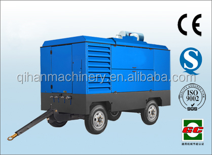 116psi Large capacity mobile diesel air compressor for ship yard