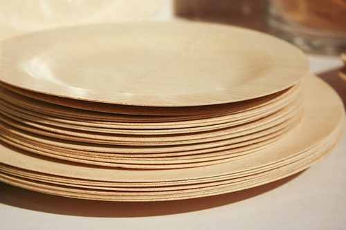 Wheat Fibre Biodegradable Plates 7 Inch - Little Cherry |Wheat Paper Plates