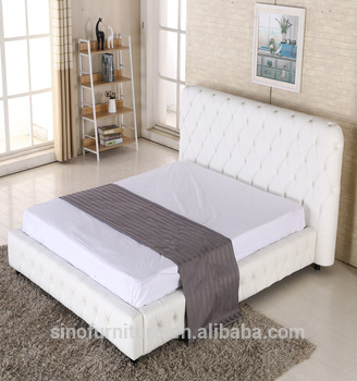Leather Queen Size Storage Bed Frame