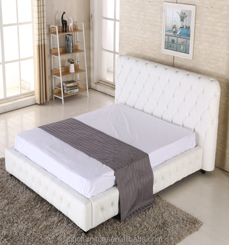 Luxury King Size Leather Queen Size Storage Bed Frame For American